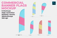 Commercial Banner Flags Mockup Product Image 1
