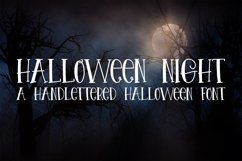 Halloween Night - A Spooky Hand-Lettered Font Product Image 1