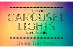 Carousel Lights Font Family, Three Fun Fonts Product Image 1