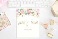 Gold & blush watercolor flowers Product Image 2