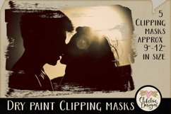 Dry Paint Photoshop Clipping Masks & Tutorial Product Image 2