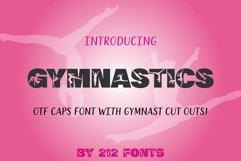 212 Gymnastics Caps Display Font Gymnast Alphabet OTF Product Image 1