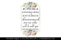 Christian Designs - Be Strong and Courageous - PNG Product Image 1