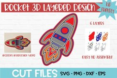 Rocket 3D Layered Design Product Image 1