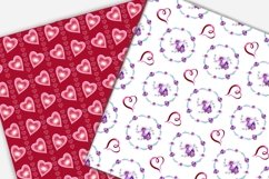 Valentine's day digital paper.Seamless pattern. Product Image 6
