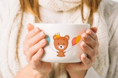 Cute cartoon baby bear clipart bundle. Eps, Png. Product Image 3