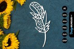 Feather Mandala Papercut Product Image 1