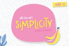 Simplicity Font Product Image 1