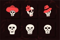 Mexican Day Of The Dead vector illustrations Product Image 4