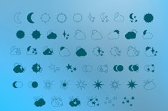Skies - sun, moon and stars magic doodle font Product Image 2