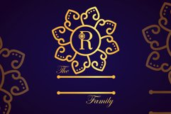 Swirly Mandala Monogram Font Product Image 4