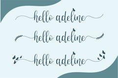 Hello adeline | a pretty script Product Image 2