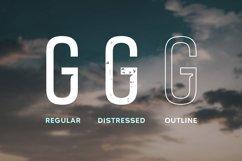 Airwings - Retro Narrow Sans Serif & Free Grunge Texture Product Image 3