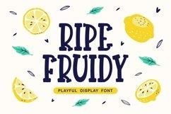 Ripe Fruidy - Playful Display Font Product Image 1