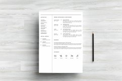 MS WORD Creative Resume Template CV Design Product Image 4