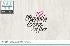 Wedding SVG - Happily Ever After Product Image 2