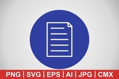 Vector Document Icon Product Image 1