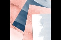 30 Ombre Sapphire & Flamingo Watercolor Digital Papers Product Image 6