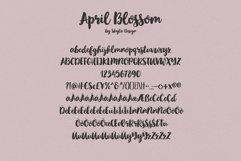 Bold script brush font, April blossom Product Image 5