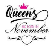 Queens are born in November  Svg,Dxf,Png,Jpg,Eps vector file Product Image 2