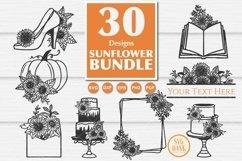 Best seller Sunflower SVG Bundle of 30 Designs Product Image 4