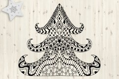 Christmas tree SVG. Merry Christmas Svg. Zentangle clipart. Product Image 1