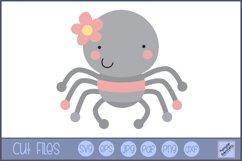 Girl Spider SVG | Cute Bug SVG Product Image 1