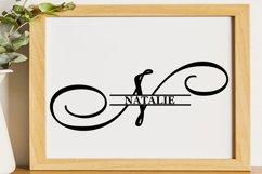 N Split monogram SVG Split letter svg Monogram font Product Image 5