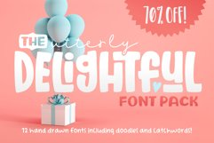 The Utterly Delightful Font Pack Product Image 1