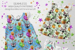 Cute Halloween Seamless Patterns, Bats Digital Papers Pack Product Image 7
