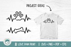 Paw Print SVG Cut Files - Love Dog Paw SVG Bundle Product Image 5