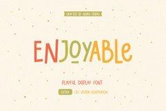 Enjoyable | Playful Font Product Image 1