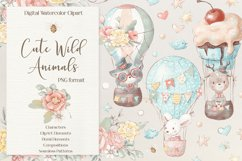 Cute woodland animals clipart. Product Image 1
