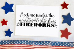 Meet Me Under The Fireworks Cut File - SVG & PNG Product Image 1
