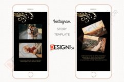 Black Gold Floral Instagram Story Template Product Image 4