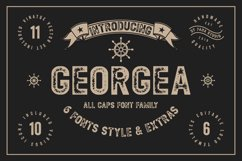 GEORGEA ALL CAPS FONT FAMILY WITH EXTRAS Product Image 1
