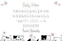 Daily Kitten Modern Monoline Handwritten Font Product Image 6