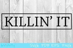 Killin It svg Powerful woman svg killing it svg Product Image 1
