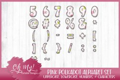 Pink Polkadots Monogram Alphabet Bundle Clipart Graphics Wor Product Image 4