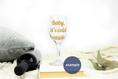 Plain Background Stemmed Wine Glass mockup PSD, Glass mockup Product Image 3