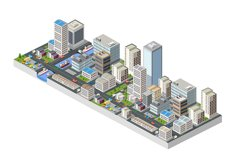 Large isometric city Product Image 1