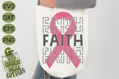 Breast Cancer Ribbon Faith SVG File Product Image 3