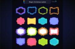 Magic Christmas Lights Vector Brushes Big Set Product Image 11