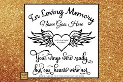 Angel Wings Svg Heart Svg In Loving Memory Sympathy svg dxf Product Image 2