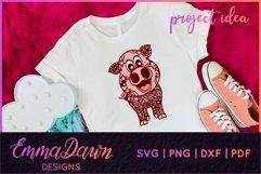 IGGY THE PIGGY SVG MANDALA / ZENTANGLE DESIGN Product Image 5