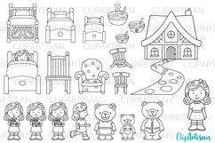 Goldilocks and the Three Bears Digital Stamps Product Image 1