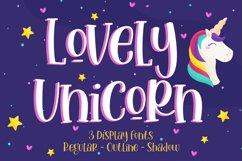 Lovely Unicorn - Handwritten Font Product Image 1