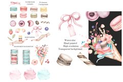 Watercolor Macaron Clipart Product Image 2