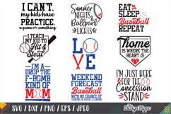 Baseball SVG Bundle, 30 Designs, DXF PNG EPS Cutting Files Product Image 2