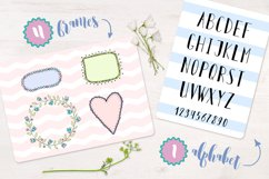 Cute birds, flowers, frames and lettering Product Image 6